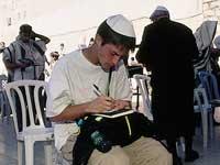 man sitting in jerusalem