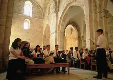singing in the old church