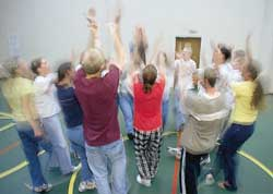 folk dancing at center