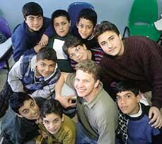 teaching English to boys