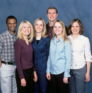 From left: Kennedy K. Luvai, '02, Desiree M. Bybee, '02, Janene S. Smith, '03, Matthew P. Dobberfuhl, '03, Janae S. Wirig, '02, and Wendy L. Burt, '02, are a few of the many students who have benefited from alumni replenishment grants.