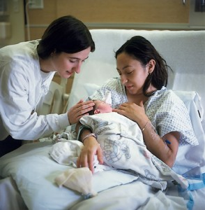 Nurse and Mother and Child