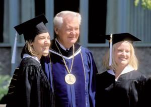 President Bateman with BYU Graduates