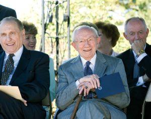 President Hinckley smiling