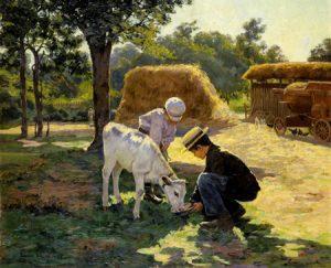 The Calf, 1899, Edwin Evans (1860-1946)