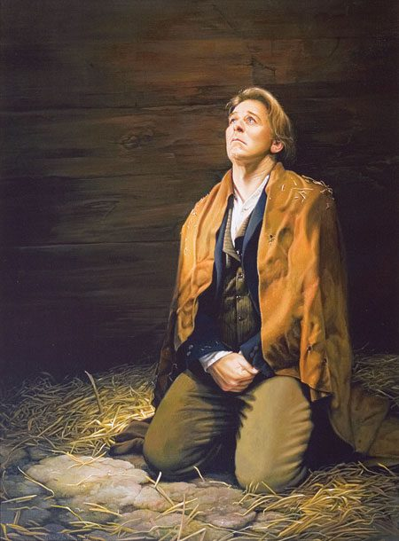 Joseph Smith praying in jail