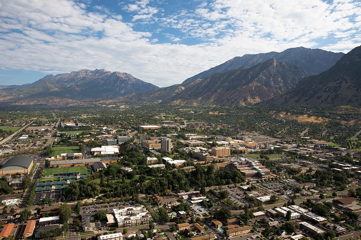 Aerial shot of Provo