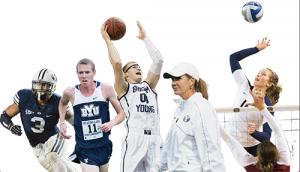 Left to right: Kyle Van Noy, Jason Witt, Eric Mika, Jennifer Rockwood, Whitney Young