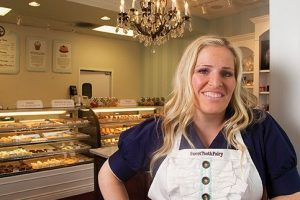Photo of Megan Faulkner Brown, founder of The Sweet Tooth Fairy cupcake shops.