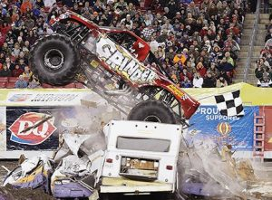 Johnson crashed onto the Monster Jam circuit in 2011 with nine wins, the most ever by a rookie or a female in a single season.