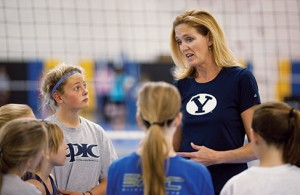 "Ceriani shares her passion for volleyball by coaching at a youth club. ""Here they get a microcosm of everything they are going to experience in life,"" she says."