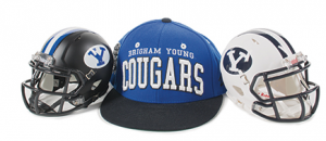 From hats, T-shirts, and banners to Pillow Pets, duct tape, and fingernail shields—BYU branding finds a welcome home on an assortment of memorabilia through manager Adam Parker in the BYU Licensing and Trademark Office.