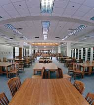 Today's library can seat 4,600 students.