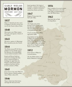 Historical Map of the Early Welsh Mormons