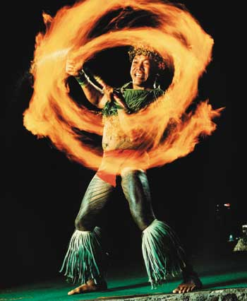 fire knife dance