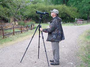 Hal Black peers through scope