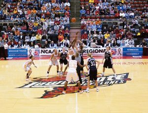 On March 23, 2002, BYU faced the Tennessee Volunteers in Ames, Iowa. The game marked the first time the Cougars have ever played in the NCAA Sweet 16.