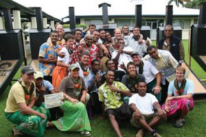 Church members in Fiji