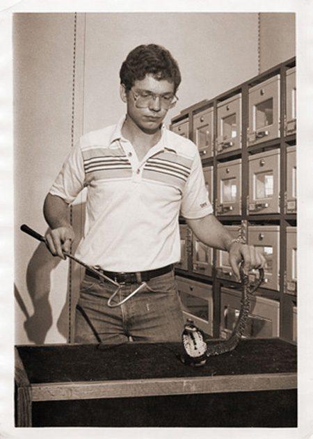 Mark Seward with Reptiles