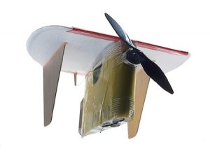 This 4 3/4-inch plane secured a first-place finish for BYU in the endurance event at the 2002 MAV Competition