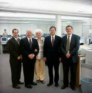 From left: TALL's Joseph South; George W., '61, and Diane C. Pace of the Kennedy Center; assistant to the president Gerrit Gong; and C. Ray Graham, '67, of the ELC.