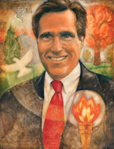 Painting of Mitt Romney
