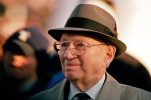 No stranger to BYU, President Hinckley visited campus often, as when he renamed the stadium in LaVell Edwards' honor.