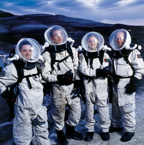 BYU students in astronaut suits