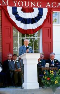 President Hinckley at Smoot Hall