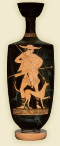 Greek red-figure lekythos