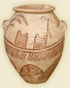 Egyptian ovoid jar