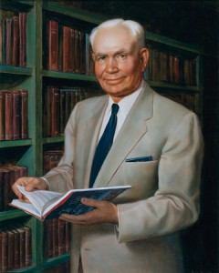 BYU figured prominently in the life of Bryant S. Hinckley. His portrait (above) will soon han in the BYU building named for his son Gordon B. Hinckley.