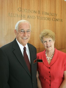 Richard and Patricia Grover are volunteer hosts at the Hinkley Center. Alumni volunteer on campus in many ways, including being mentors to students.