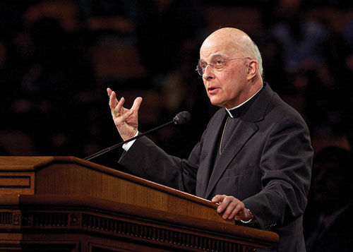 Cardinal Francis George speaking at BYU on religious freedom.