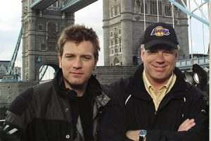 In his career as a television director and producer, Bill Elliott (right)--posing here with actor Ewan McGregor--has traveled the world and conducted more than 2,000 interviews for television.