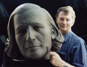 Plastic surgeon and sculptor Steven Neal combined his skills to create a middle-aged Brigham Young.
