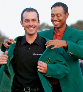 Tiger Woods and Mike Weir at the 2003 Masters.