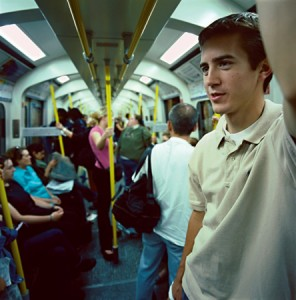 Andrew Brown on the subway