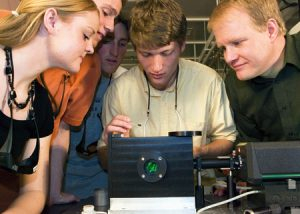 Students adjust Laser for research