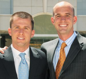 Brothers Andrew (left) and Jonathan Greene have combined their skills to create a flourishing business.