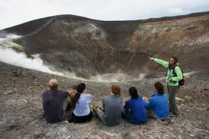 Jani Radebaugh instructs on the lip of Volcano.