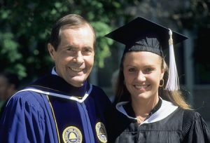 A tireless worker, Rex Lee gave himself completely to every role, whether it required preparing for a Supreme Court case, guiding a large and complex university, or nurturing relationships. During his time as president of BYU, he presided over the graduation ceremonies of three of his children, including daughter Stephanie.