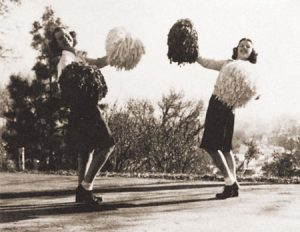first female cheer leaders