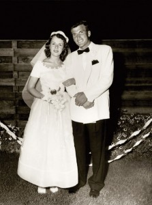 Ira and Mary Lou Fulton's wedding day