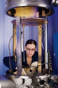 A team of undergraduates, including Amy Baker, built the mirror bound for Venus.