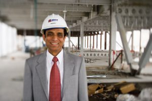 King Husein, a BYU graduate, owns one of the two companies constructing the Gordon B. Hinckley Building.
