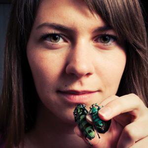 girl and beetle