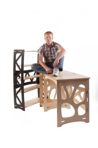 IDEA-esque, but with more enterprise, Clark Davis' Gypsy furniture won him first place. He also won third.
