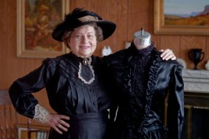 Using the training she received from BYU, Merial Hawkins has re-created numerous articles of clothing from the 1800s.
