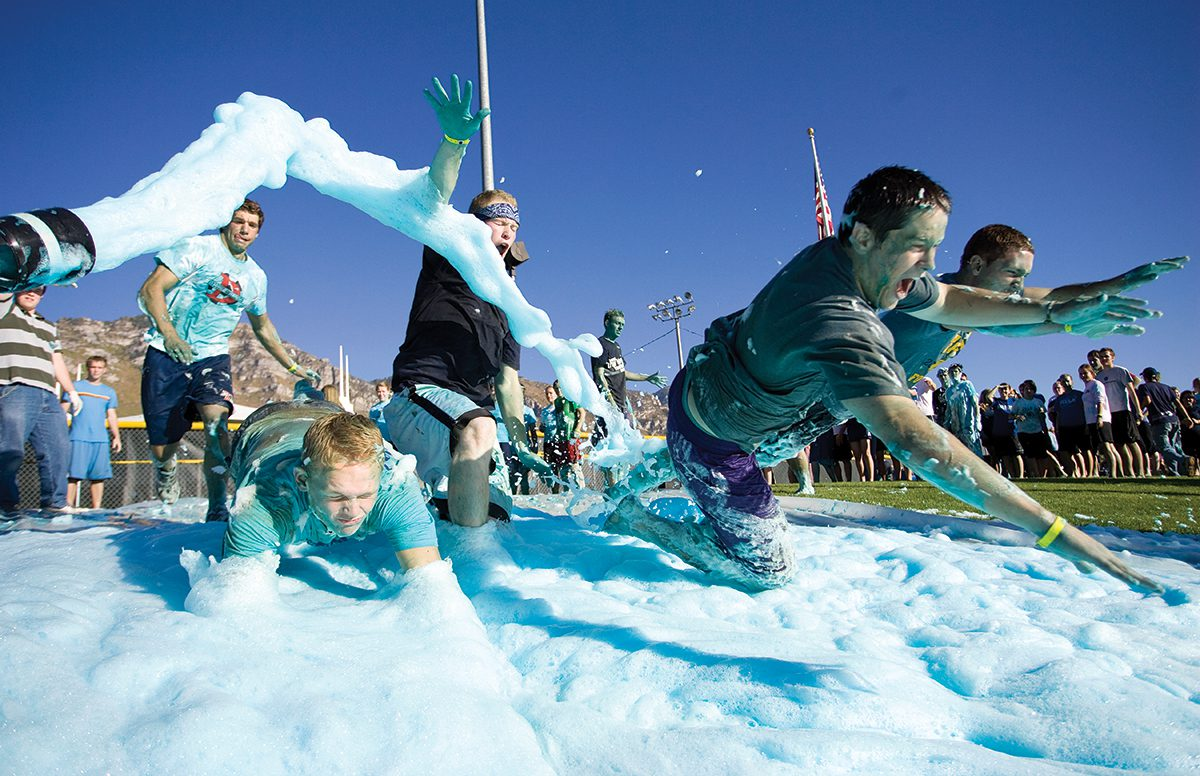 True Blue Foamy Fun